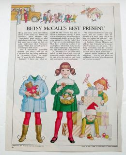 Vintage Betsy McCalls Best Christmas Present Paper Dolls December