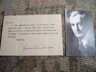 Sherwood Anderson Author Signed Note Book Rare Autograph Ernest