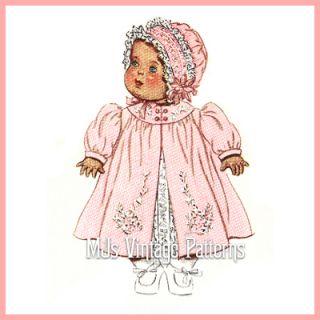 Doll Clothes Vtg Pattern Dress Coat Bonnet 15 DY Dee Tiny Tears Betsy