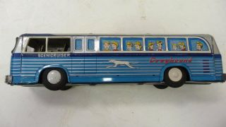 Vintage Greyhound Bus Early 1960s Friction Toy 2070