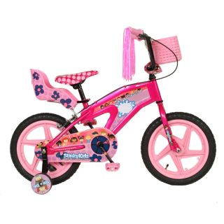 girls 16 inch stinky kids training wheels ride on toy bike bicycle