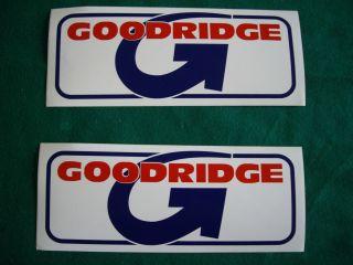 GOODRIDGE BRAKE HOSES STICKERS GENUINE RACE ROAD VAN DECAL BIKE CAR