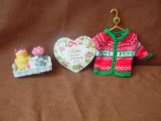 Buy 3 Darling Christmas Tree Ornaments for Your Mom Knit Sweater