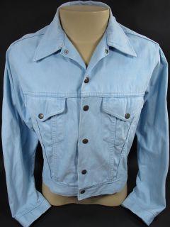 vintage 70s HANG TEN blue SURFER 2 pocket soft denim jacket Feet logo