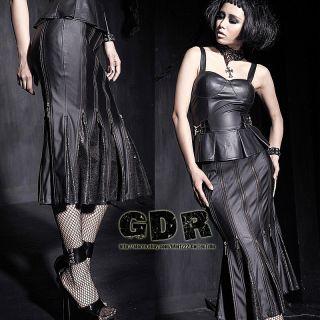 Punk Hard King Q183 Cosplay Gothic Jacket Dark Zip Maxed Skirt s 2XL