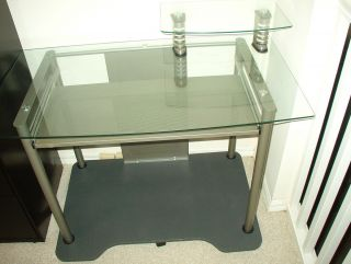 Metro Cart Computer Glass Desk