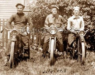 1918 MOTORCYCLES   HARLEY DAVIDSON AND INDIAN MOTORCYCLE & RIDER BIKER