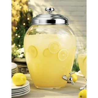 Glass Water Dispenser NEW Beverage Lemonade Container Serving Jugs Jar