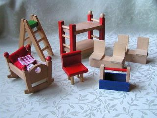 Dollhouse*Mini atures*Solid Oak Blonde Wood*Cabinets* Furniture* (1