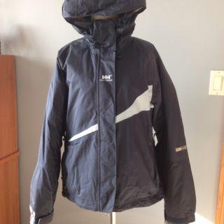 Helly Hanson Womens Tech Winter Ski Jacket Size Medium Navy