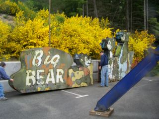 Huge Neon Drive In Theater Sign Original 1950s Big Bear Drive In Three