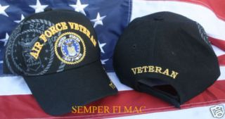US AIR FORCE VETERAN HAT USAF IRAQ VIETNAM KOREA WW 2 AFGANISTAN