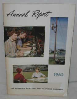 1962 Bell Telephone Annual Report New England