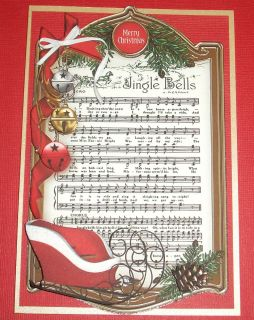 Handmade Greeting Card 3D Merry Christmas with A Sleigh Jingle Bells