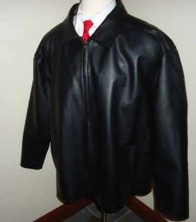 Canyon Ridge SOFT Black Leather Jacket Mens 3XL Hardly Used VERY NICE