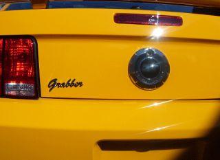 Ford Mustang Chrome Grabber Emblem Orange Blue V6 GT