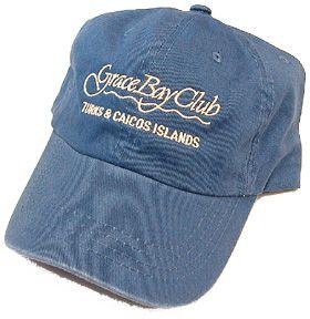 Grace Bay Club Turks Caicos Islands OSFM Hat Sea Blue Golf Hat New w O
