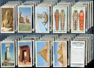 Tobacco Card Set WD HO Wills Wonders of The Past Ancient Egypt Sphinx