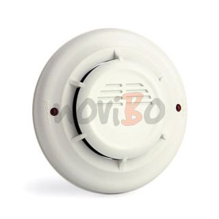 LED Alert Photoelectric Smoke Detector Wired Sensor Fire Alarm System