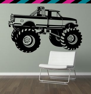 Monster Truck Jam Big Foot Gravedigger Chevy Ford Wall Decal Sticker