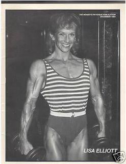 WOMENS PHYSIQUE PUBLICATION female bodybuilder magazine/ Lisa Elliott