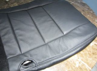 F350 Harley Davidson Amarillo Black Leather Bottom Seat Cover