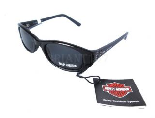 NWT Auth. Harley Davidson Sunglasses HDS446 Black+Pouch