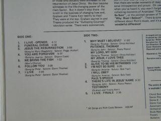 Living Witnesses Rich Cook Graham Kerr Allene Bledsoe LP Vinyl Album