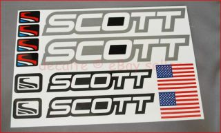 SCOTT Grey Mountain Bike Cycle Bicycle Frame Decals Stickers Set MTB