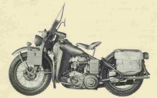 Harley Davidson WLA Motorcycle Service Parts Manuals