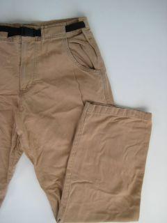 Beige Canvas Khaki Hiking Climbing Pants Gramicci Style Large