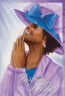 African American Woman Happy Birthday Wishes Greeting Card