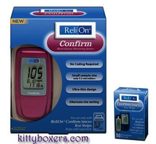 ReliOn Confirm Blood Glucose Meter, Pink INCLUDES BOX Confirm/micro