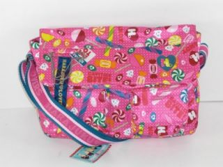 harajuku lovers pink fan messenger sweet toof bag