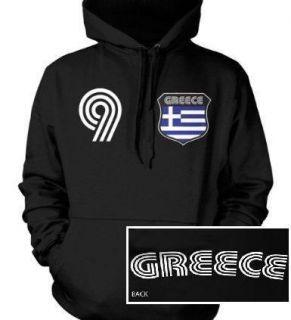 Greece Flag Retro Crest Hoodie Sweatshirt Greek Soccer