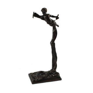 Strings World Artisan Violin Stand   Greek Harpist   Aged Bronze