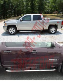 2012 GMC Sierra Crew Cab Nerf Bars Side Steps Rails Running Boards SS