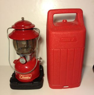 200 A Red Coleman Lantern in Red Plastic Hard Sided Case EXTRAS