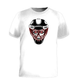 Hockey Skull Goalie Mask Face Cool Funny Jersey T Shirt
