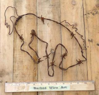 Bucking Horse Folk Rodeo Saddle Ranch Wall Decor Bull Farm Barbed Wire