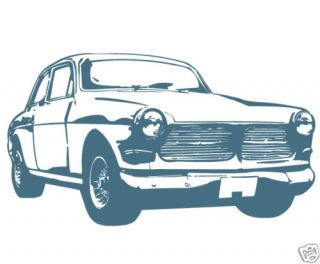 Old Fashioned Car Big Size Wall Graphic Sticker