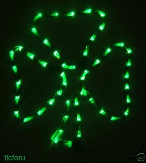 St Patricks Day Shamrock 20 Lights Lighted Sculpture