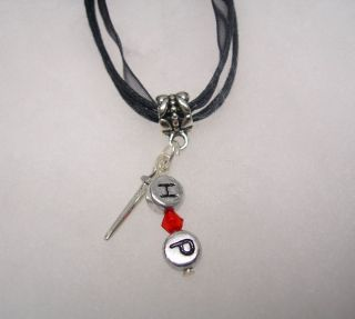 Harry Potter Inspired (Magic Wand With Red Crystal) Necklace With HP