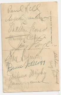 1940s WWII Military Hollywood Canteen CA 9 Autographs Postcard Angela