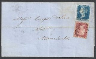 Great Britain 1857 SG 34 38 Cover Gregorys Manchester
