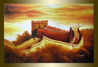 Wangke Great Wall landscape hand painted oil painting bestbid shop