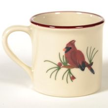 Cardinal Hartstone Pottery Traditional Mug Handcrafted Hand Painted in