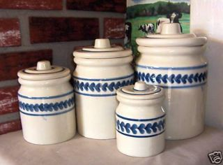 Hartstone Pottery Made in U s A 8 PC Canister Set
