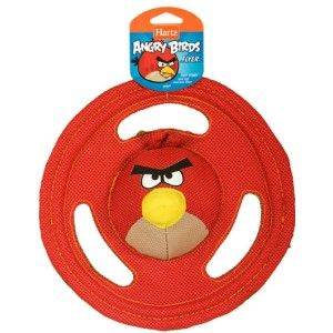 Hartz OFFICIAL Angry Birds Dog Toy Tuff Stuff Flyer Frisbee Red/Green