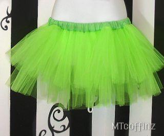 Neon Green Faerie Cyber Rave Anime Tutu Skirt Ballet